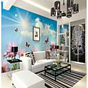 abordables Murales-Mural Lona Revestimiento de pared - adhesiva requerida Floral Art Decó 3D
