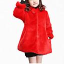 cheap Girls' Jackets & Coats-Girls' Daily Solid Jacket & Coat, Cotton Polyester Winter Fall Long Sleeves Dresswear Beige Fuchsia Red