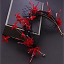 baratos Acessórios de Cabelo-Liga Decoração de Cabelo com Cristais / Flor de Cetim / Renda 1pç Casamento / Ocasião Especial Capacete