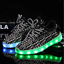 cheap RC Airplanes-Boys' / Girls' Shoes Knit / Tulle Summer / Fall Light Up Shoes Sneakers LED for Kid's Black / Gray