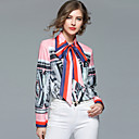 cheap Historical & Vintage Costumes-SHIHUATANG Women's Business Street chic Shirt - Floral, Bow