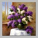 baratos Pinturas Paisagens-Pintura a Óleo Pintados à mão - Vida Imóvel Floral / Botânico Clássico Tela de pintura