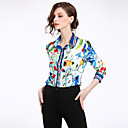billige Hundeklær-Skjortekrage Skjorte Dame - Blomstret, Trykt mønster Gatemote