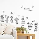 ieftine Acțibilde de Perete-Autocolante de Perete Decorative - Autocolante perete plane Floral / Botanic Sufragerie Dormitor Baie Bucătărie Cameră de studiu / Birou