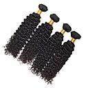 tanie Dopinki w naturalnych kolorach-4 zestawy Włosy brazylijskie Curly Włosy naturalne Doczepy z naturalnych włosów Kolor naturalny Ludzkie włosy wyplata Rozbudowa / Gorąca wyprzedaż Ludzkich włosów rozszerzeniach Wszystko
