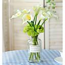 baratos Plantas Artificiais-Flores artificiais 5 Ramo Pastoril Estilo Lírios Flor de Mesa