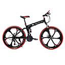 preiswerte Überlebenssets-Geländerad / Falträder Radsport 21 Geschwindigkeit 26 Zoll / 700CC SHIMANO TX30 Doppelte Scheibenbremsen Federgabel Hintere Federung gewöhnlich Stahl / #