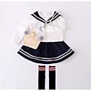 tanie Sukienki dla dziewczynek-Brzdąc Dla dziewczynek Codzienny Solidne kolory Długi rękaw Poliester Sukienka Biały 80 / Śłodkie