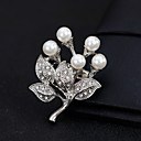 cheap Religious Jewelry-Women's Brooches - Pearl Flower European, Fashion Brooch Gold / Silver For Wedding / Daily