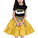 cheap Girls' Dresses-Girl's Daily Color Block Dress, Polyester Summer Sleeveless Cute Black