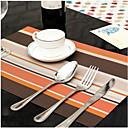 tanie Podkładki stołowe-Współczesny Plastikowy Kwadrat Podkładki Prążki Dekoracje stołowe 1 pcs