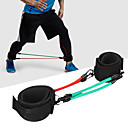 hesapli Havlu-Pedli Fitness Ayak Bileği Askısı İle lateks ipek Streç, Dayanıklı Kuvvet Antrenmanı, Direnç Eğitimi, Ağırlık kaldırma İçin Fitness / Jimnastik / Egzersiz yapmak Bacak Unisex