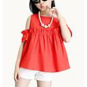 tanie Sukienki dla dziewczynek-Dzieci Dla dziewczynek Moda miejska Solidne kolory Krótki rękaw Bawełna Komplet odzieży