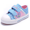 tanie Obuwie dziewczęce-Dla dziewczynek Obuwie Płótno Wiosna Wygoda Tenisówki na Ciemnoniebieski / Różowy / Jasny niebieski