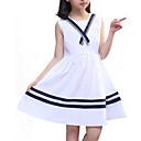 זול שמלות לבנות-שמלה ללא שרוולים אחיד / פסים חגים פעיל בנות ילדים / כותנה / חמוד