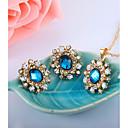 זול סטים של תכשיטים-בגדי ריקוד נשים סט תכשיטים - טיפה אופנתי, אלגנטית לִכלוֹל כחול עבור Party / יום הולדת