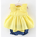 cheap Baby Girls' Clothing Sets-Baby Girls' Striped Peplum Sleeveless Clothing Set / Cute / Toddler