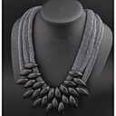 저렴한 귀걸이-여성용 칼라 문 목걸이 대형 코드 레진 블랙 55 cm 목걸이 보석류 제품 파티 / 이브닝 클럽