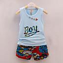 tanie Zestawy ubrań dla chłopców-Brzdąc Dla chłopców Aktywny Urlop Nadruk Bez rękawów Bawełna Komplet odzieży / Urocza