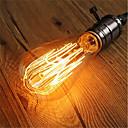 זול נורת להט-1pc 40W E26/E27 ST64 לבן חם 2200-2700k K רטרו Spottivalo דקורטיבי ליטוש וינטג 'אדיסון Light Bulb 220V-240V