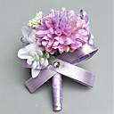 abordables Fleurs de mariage-Fleurs de mariage Boutonnières / Petit bouquet de fleurs au poignet Mariage / Soirée Polyester 3.94 pouce