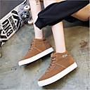 cheap Footwear & Accessories-Women's Shoes PU(Polyurethane) Spring Comfort Sneakers Flat Heel Black / Gray / Brown