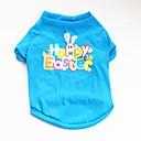 preiswerte Hundekleidung-Hunde / Katzen / Haustiere T-shirt / Pullover / Weste Hundekleidung Blume / Hase / Kaninchen / Zitate & Sprüche Blau Baumwolle Kostüm Für