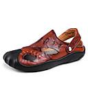 halpa Miesten sandaalit-Miesten kengät Nahka Kesä Comfort Sandaalit Musta / Keltainen / Ruskea