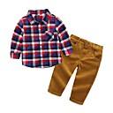 ieftine Pantaloni Băieți-Copii Băieți Plisat Manșon Lung Set Îmbrăcăminte