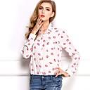 Χαμηλού Κόστους Πρακτικές Μπομπονιέρες-Γυναικεία T-shirt Αργίες Χαριτωμένο / Βασικό Συνδυασμός Χρωμάτων Όρθιος Γιακάς Λεπτό / Φθινόπωρο