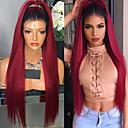 cheap Human Hair Wigs-Remy Human Hair Lace Front Wig Brazilian Hair Straight Wig 130% Hair Density Women's Long Human Hair Lace Wig beikashang