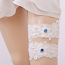 cheap Wedding Garters-Gemstone / Lace Classic Jewelry / Vintage Style Wedding Garter 617 Gore Garters Wedding / Party & Evening