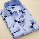 baratos Adesivos Decorativos para Automotivo-Homens Camisa Social Básico Listrado / Geométrica / Manga Curta / Manga Longa