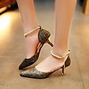 Χαμηλού Κόστους Γυναικείες Γόβες-Γυναικεία Παπούτσια PU Καλοκαίρι Ανατομικό Τακούνια Χαμηλό τακούνι Χρυσό / Μαύρο / Ασημί