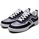 זול נעלי בית וכפכפים לגברים-בגדי ריקוד גברים בד / PU סתיו נוחות נעלי אתלטיקה ריצה קולור בלוק אפור / שחור לבן / שחור אדום