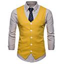 رخيصةأون صنادل رجالي-رجالي أبيض أسود أصفر XXL XXXL 4XL Vest قياس كبير الأعمال التجارية / أساسي لون سادة نحيل / بدون كم / الصيف / عمل / نصف رسمي