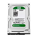 cheap Internal Hard Drives-WD Laptop / Notebook Hard Disk Drive 3TB SATA 3.0(6Gb / s) WD30EZRX