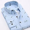 tanie Głowice prysznicowe LED-Koszula Męskie Podstawowy Prążki / Geometric Shape / Krótki rękaw / Długi rękaw