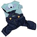 preiswerte Hundekleidung-Hunde / Katzen / Haustiere Overall Hundekleidung Gepünktet / Jeans / Cartoon Design Blau / Rosa / Marineblau Baumwolle / Polyester Kostüm