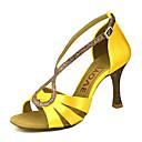 abordables Cubos de Rubik-Mujer Zapatos de Baile Latino / Zapatos de Salsa Satén / Seda Sandalia / Tacones Alto Hebilla / Corbata de Lazo Tacón Personalizado