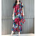 cheap Travel Bags-Women's Loose Blouse - Rainbow Pant
