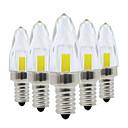 preiswerte LED Doppelsteckerlichter-ywxlight® Kristall Kerze LED Glühbirne 3W E12 Cob LED-Lampe dimmen für Deckenleuchte Kronleuchter AC 220-240V AC 110-130V