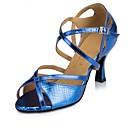 ieftine Pantofi Dans Latin-Pentru femei Pantofi Dans Latin / Pantofi Salsa / Pantofi de Samba Imitație de Piele Călcâi MiniSpot Subțire superioară Personalizabili