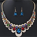cheap Earrings-Women's Bib Jewelry Set - Drop Bohemian, Boho Include Rainbow / Red / Blue For Ceremony Carnival / Earrings