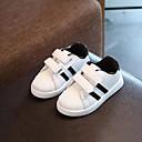 baratos Sapatos de Menina-Para Meninas Sapatos Couro Ecológico Primavera Primeiros Passos Tênis para Dourado / Preto / Vermelho