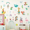 billige Vægklistermærker-Dekorative Mur Klistermærker - Animal Wall Stickers Dyr Stue Soveværelse Badeværelse Køkken Spisestue Læseværelse / Kontor