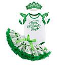 ieftine Set Îmbrăcăminte Bebeluși-Bebelus Fete Draguț Bloc Culoare Manșon scurt Set Îmbrăcăminte