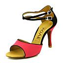 olcso Függőlámpák-Női Latin cipők / Báli / Salsa cipők Bársony Szandál Csat Személyre szabott sarok Személyre szabható Dance Shoes Narancssárga / Fukszia / Bőr / Bőr