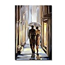 cheap Oil Paintings-STYLEDECOR Modern Hand Painted Couples Figure on Canvas Oil Painting for Wall Art