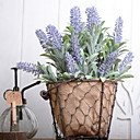 cheap Decorative Objects-Artificial Flowers 1 Branch Vintage Lavender Tabletop Flower